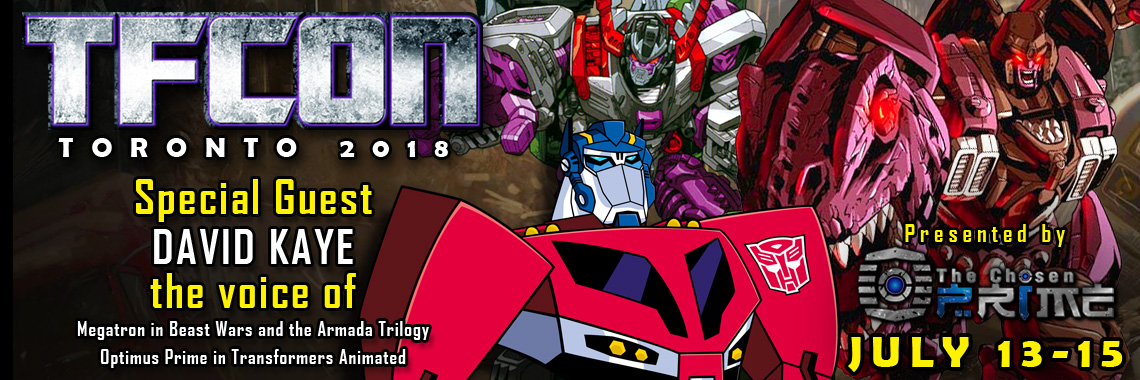 Transformers Voice Actor David Kaye to attend TFcon Toronto 2018