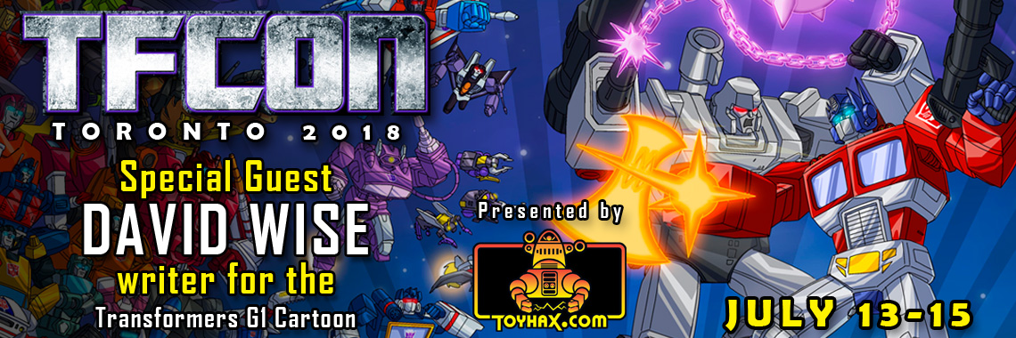 Transformers Writer David Wise to attend TFcon Toronto 2018