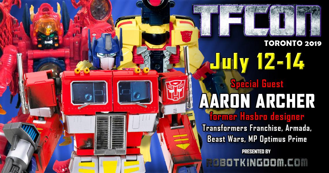 Transformers Designer Aaron Archer to attend TFcon Toronto 2019