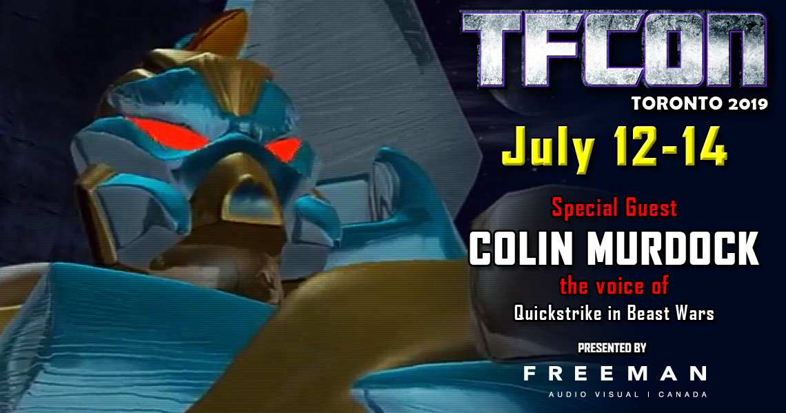 Transformers voice actor Colin Murdock to attend TFcon Toronto 2019
